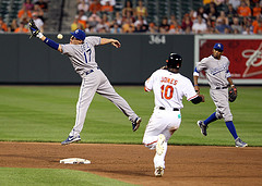 Kansas City Royals second baseman Chris Getz (17)