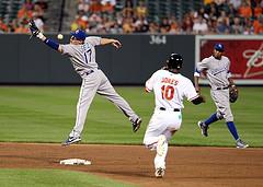 Kansas City Royals second baseman Chris Getz (17)