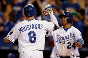 Mike Moustakas, Christian Colon